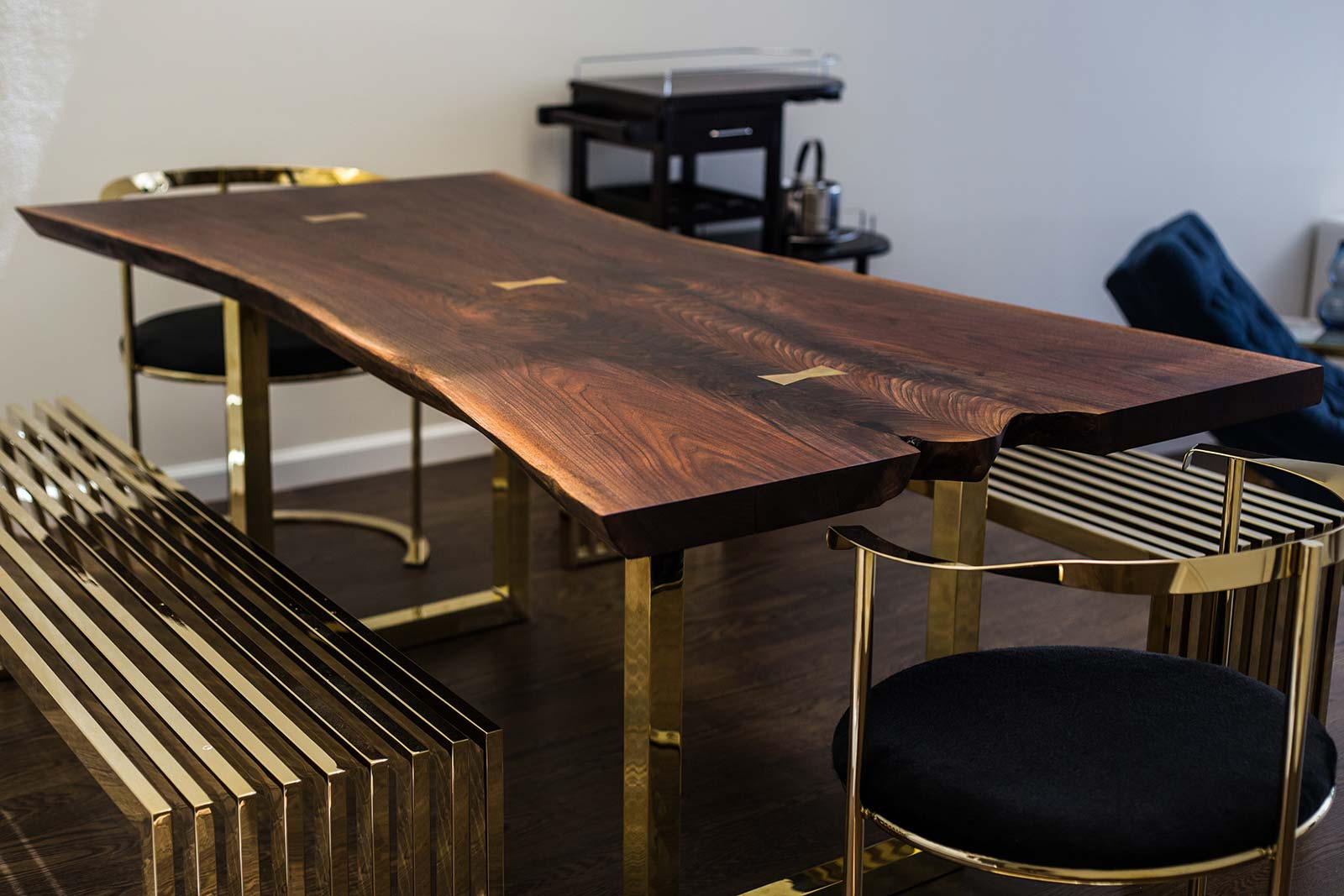 Dining Table Natural Ebony Wood