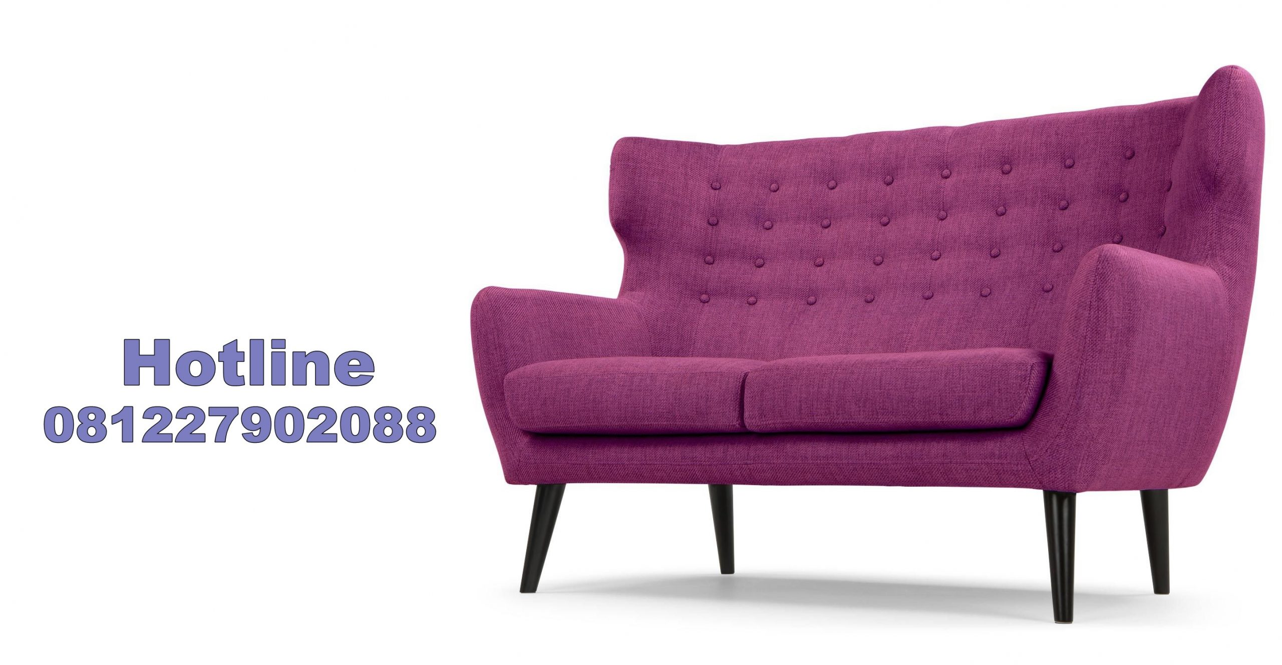 sofa retro warna ungu