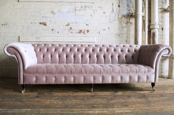 sofa retro Dusty Pink