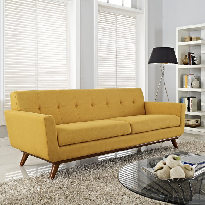 sofa retro warna kuning telor